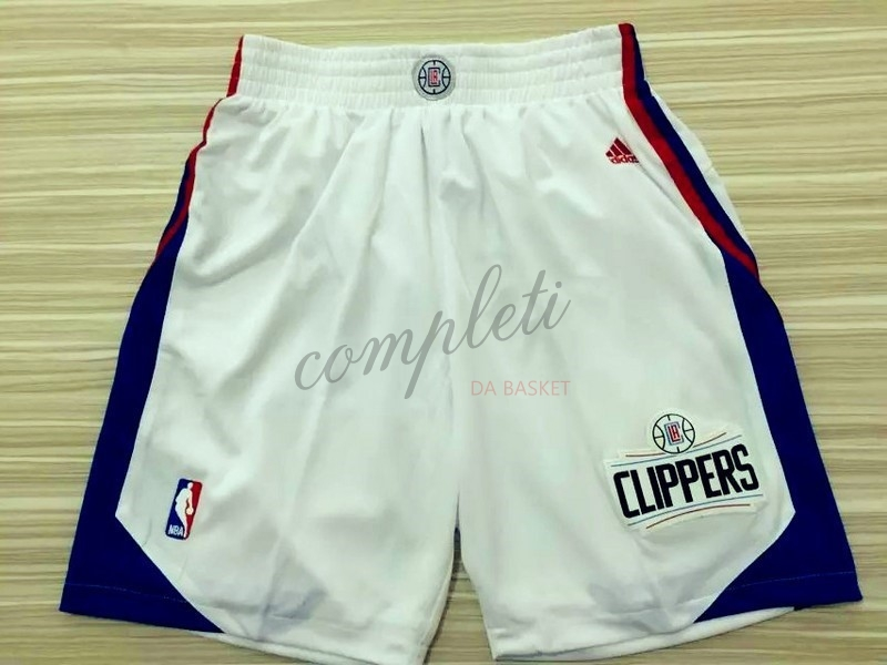 Comprare Pantaloni Basket Los Angeles Clippers Bianco