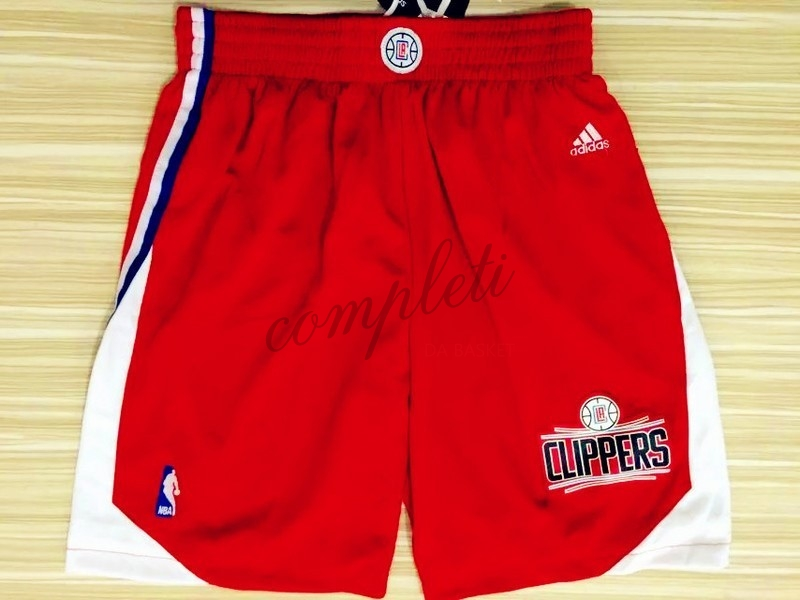 Comprare Pantaloni Basket Los Angeles Clippers Rosso