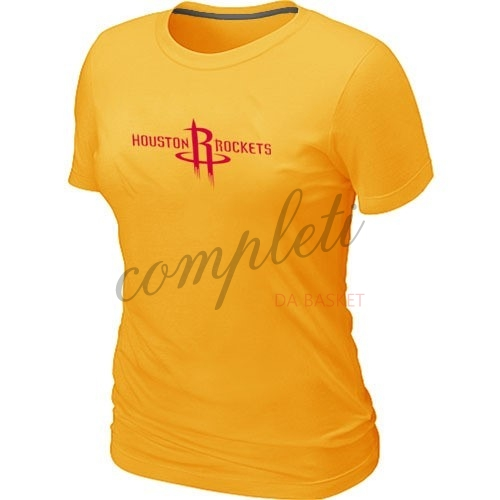 Comprare T-Shirt Donna Houston Rockets Giallo