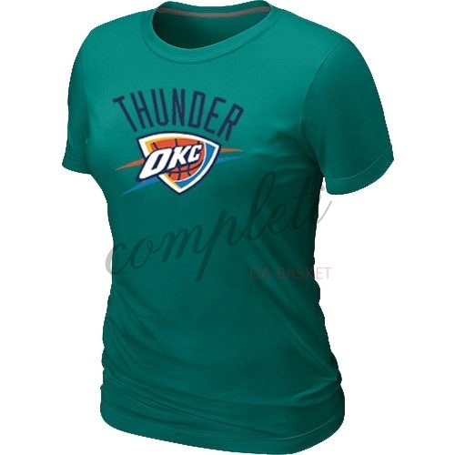 Comprare T-Shirt Donna Oklahoma City Thunder Verde Scuro