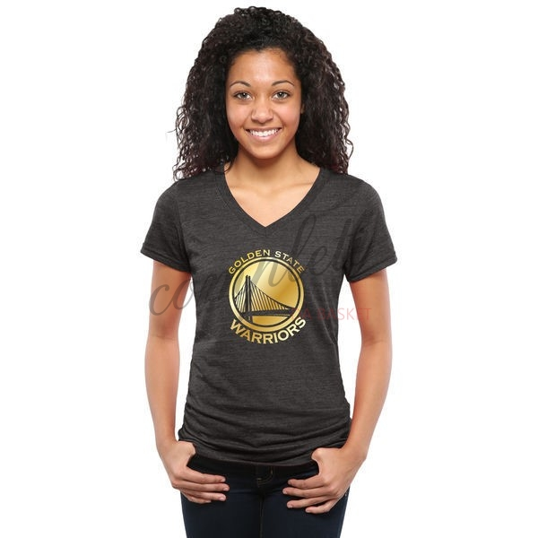 Comprare T-Shirt Donna Golden State Warriors Nero Oro