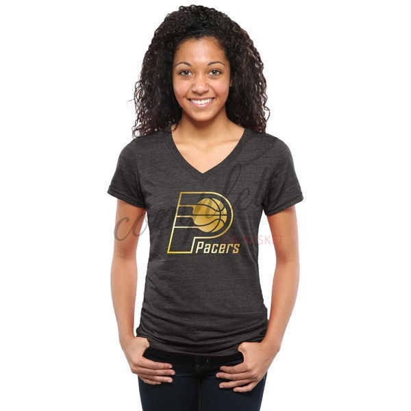 Comprare T-Shirt Donna Indiana Pacers Nero Oro