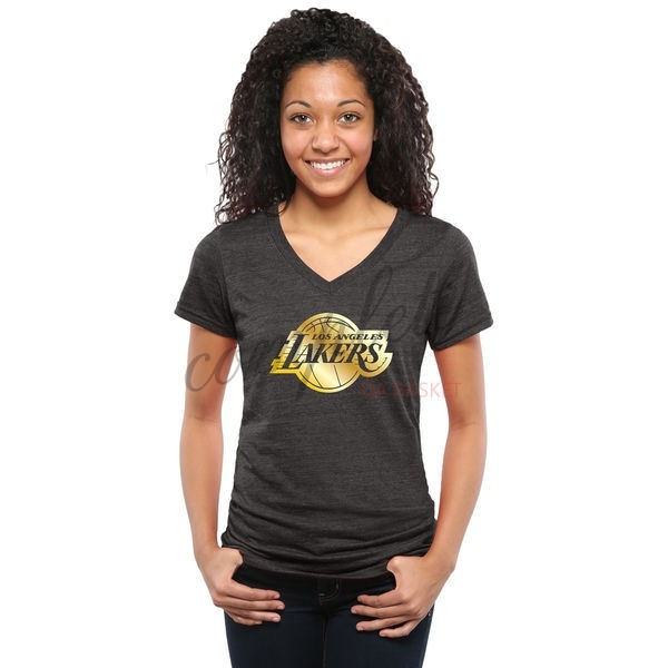 Comprare T-Shirt Donna Los Angeles Lakers Nero Oro
